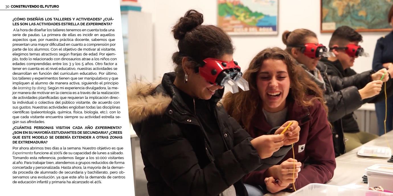 Inmaculada Espárrago entrevistada sobre EXPERIMENTA_CIC para la revista VICEVERSA de la Universidad de Extremadura.